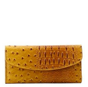 Handbags - MUSTARD YELLOW FASHION LEATHER OSTRICH WALLET!
